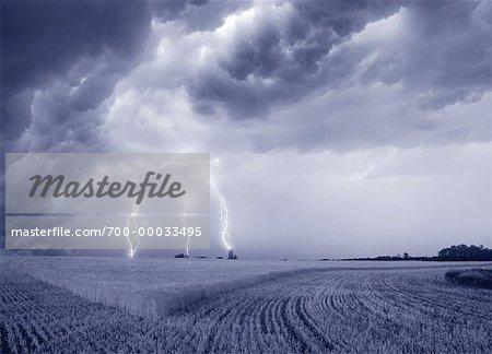 Lightning Alberta, Canada