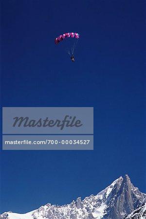 Paragliding Chamonix, French Alps
