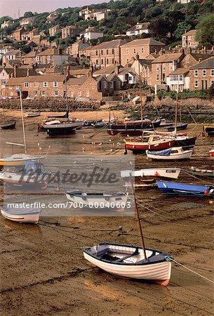 Fishing Boats, English Seacoast Town of Mousehole, England