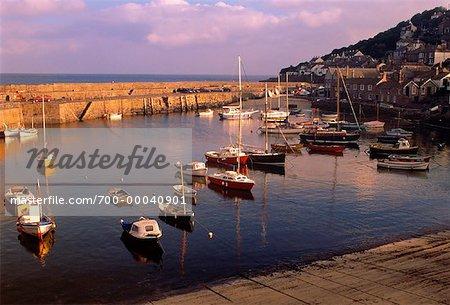 English Seacoast Town of Mousehole, England