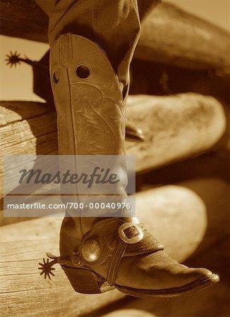 Close-Up of Cowboy Boot