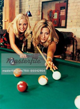 women playing with women
