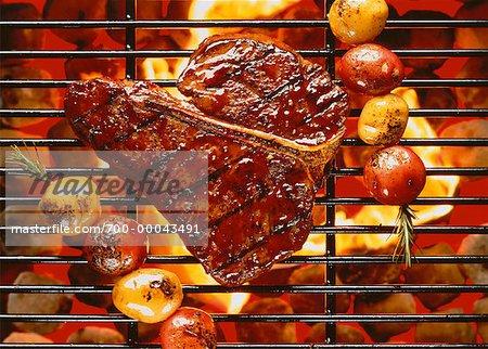 Steak on Barbecue