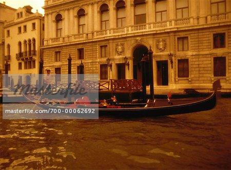Gondola near Building Venice, Italy