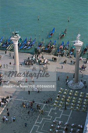 Aerial View of Molo di San Marco Venice, Italy