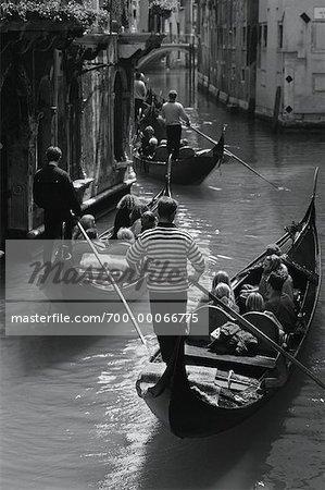 Gondolas in Canal Venice, Italy