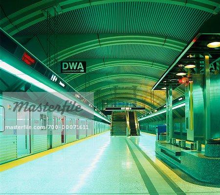 Subway Station Interior Toronto, Ontario, Canada