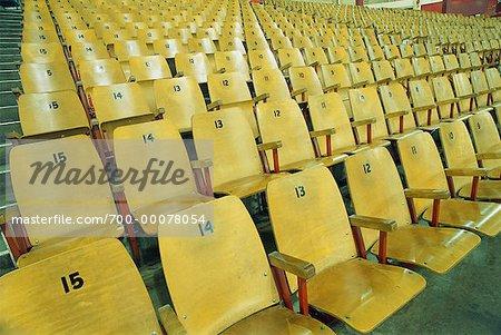 Empty Seats in Hockey Arena Vancouver, British Columbia Canada