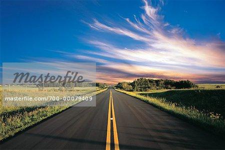 Road, Landscape and Sky Saskatchewan, Canada