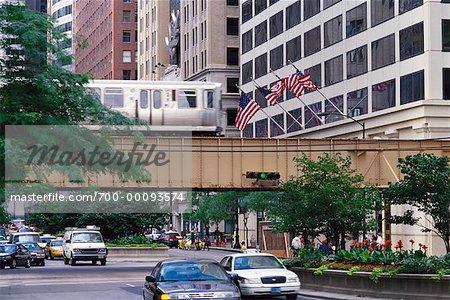 Elevated Train Chicago, Illinois, USA