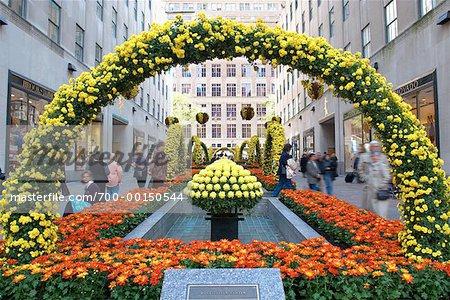 Garden At Rockefeller Center New York City, New York, USA   Stock Photo