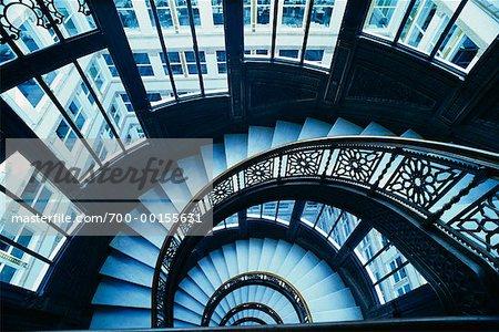 Staircase, Chicago, Illinois, USA   Stock Photo