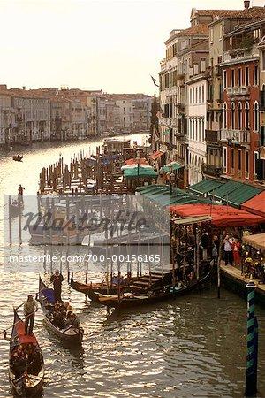 Gondolas and Tourists Venice, Italy