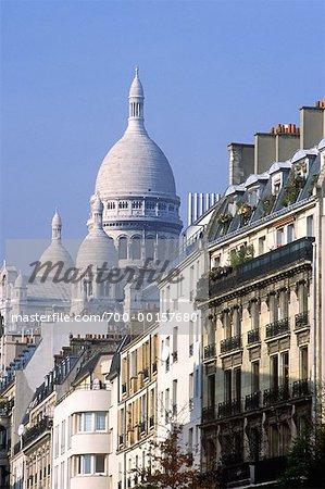 View of the Sacre Coeur Paris, France