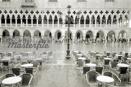 Sidewalk Cafe During Flood Venice, Italy