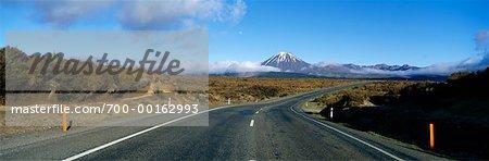 Highway at Mount Ngauruhoe Tongariro National Park New Zealand