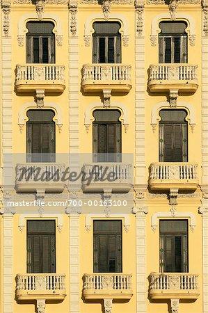 Close-Up of Edificio Gomez Vila Havana, Cuba