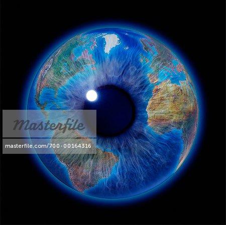 eye as world globe stock photo masterfile rights managed