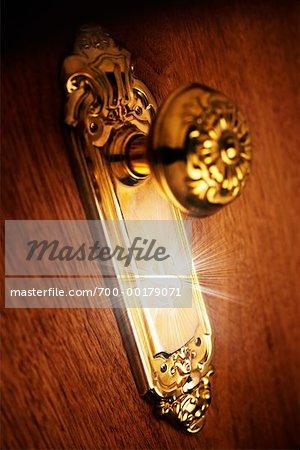 Doorknob with Dollar Symbol - Stock Photo - Masterfile - Rights ...