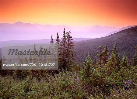 Middle Mountain at Dawn Northern Rockies British Columbia, Canada