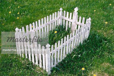 Grave at Native Cemetery Moose Factory, Ontario, Canada