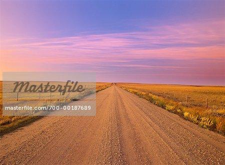 Rural Road Saskatchewan, Canada
