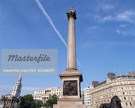 Nelson's Column Trafalgar Square Westminster London, England