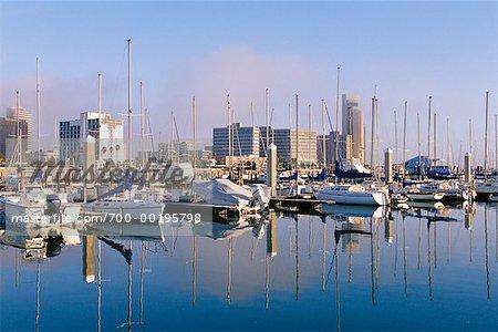 Skyline and Marina Corpus Christi, Texas USA