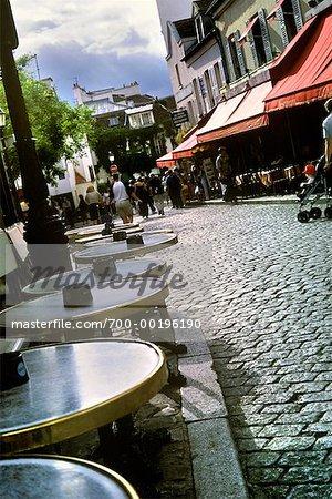 Street in Montmartre Paris, France