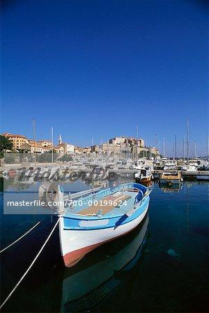 Fishing Boat Port of Calvi Corsica, France