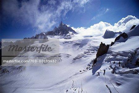 Dent du Geant Chamonix, Savoie, France