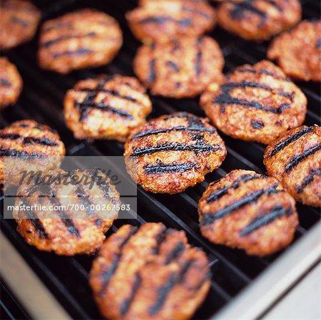 Close-Up of Hamburgers