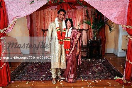 Traditional Hindu Bride and Groom