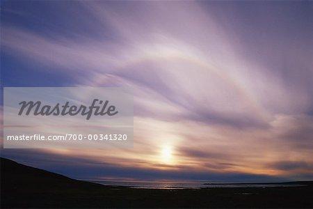 Sun-Dog on Horizon