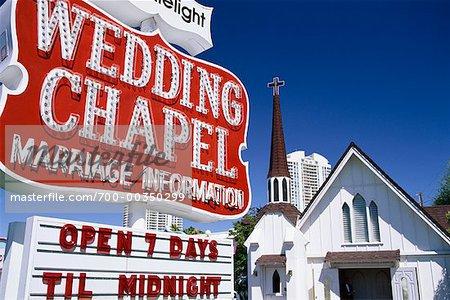 Wedding Chapel Las Vegas Nevada Usa Stock Photo Master