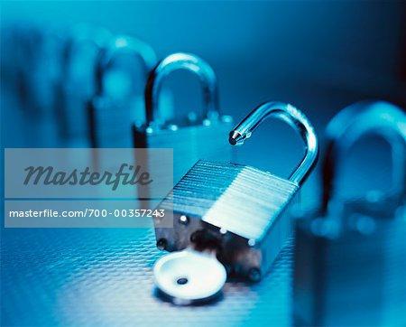 key unlocking lock stock photo masterfile rights managed