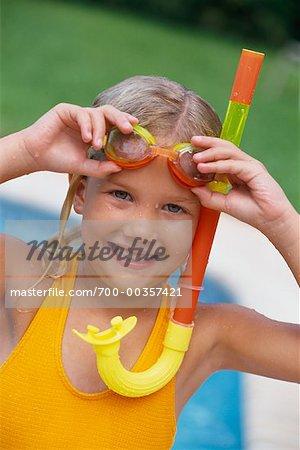 1640f6108e Portrait of Girl Wearing Bathing Suit