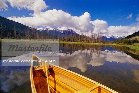 Canoe and Vermillion Lakes, Banff National Park, Alberta, Canada