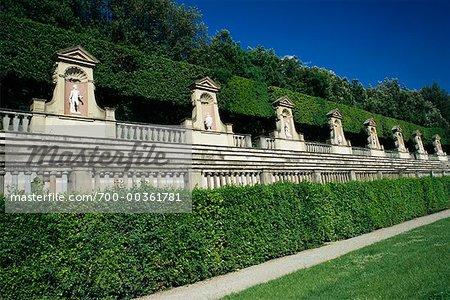 Boboli Gardens, Pitti Palace Florence, Tuscany, Italy - Stock Photo ...