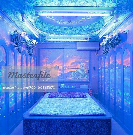 Love Hotel Interior Shinjuku District Tokyo Japan Stock Photo
