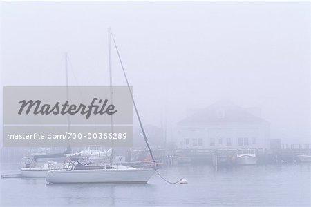 Boats in Mist Menemsha, Martha's Vineyard Massachusetts, USA