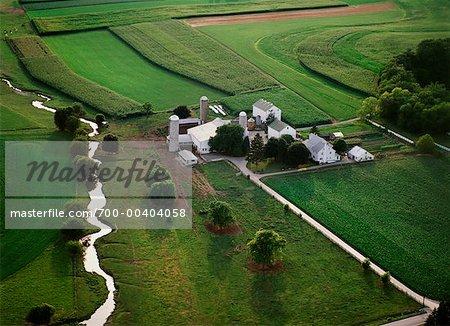 Aerial View of Farm