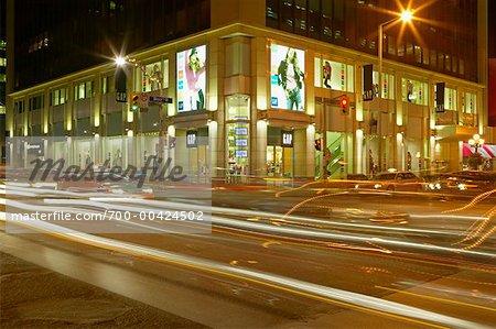 Traffic at Night Toronto, Ontario Canada