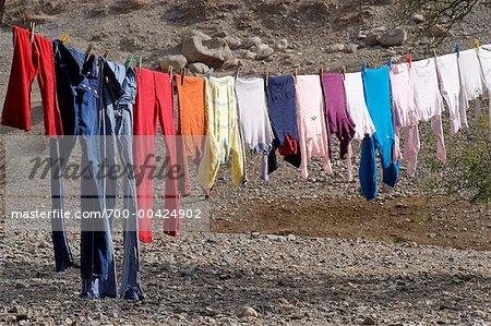 Laundry on Clothesline, Salta Province, Argentina