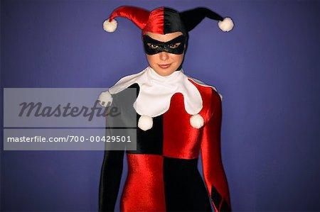 Woman in Harlequin Costume