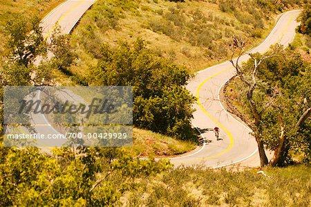 Man Mountain Biking, Colorado, USA