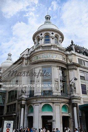 Facade of Printemps Building, Paris, France