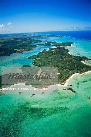 Aerial View of Ile aux Cerfs, Mauritius