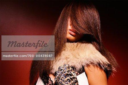 Portrait of Fashion Model