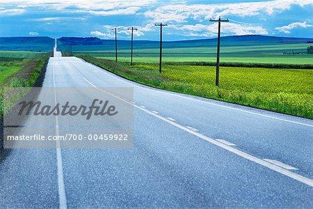 Rural Highway, Alberta, Canada
